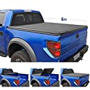 Tyger Auto T3 Tri-Fold Truck Tonneau Cover TG-BC3T1631 Works with 2019 Toyota Tacoma   Fleetside 6' Bed   for Models with or Without The Deckrail System