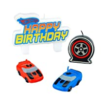 Amscan 190103 Hot Wheels Speed City Mini Molded Cake Candles