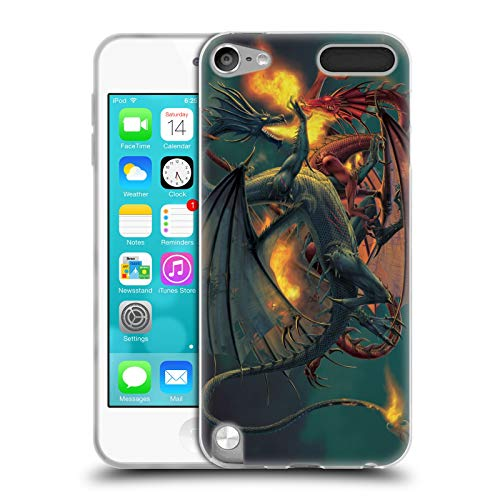 (Official Vincent HIE Clash of The Titans Dragons Soft Gel Case for Apple iPod Touch 5G 5th Gen)