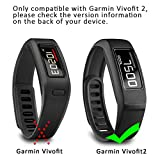 SKYLET Compatible with Garmin Vivofit 2 Bands, Soft Silicone Replacement Bands for Vivofit 2 Wristband Bracelet with Buckle Small Large Kids Men Women Black