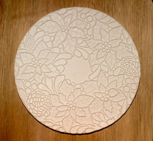 Poinsettia Texture for Tile Mold for Glass Slumping 11 Inch Diameter $35 Retail