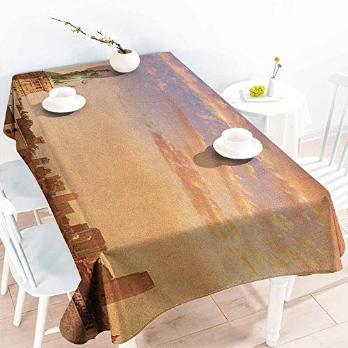 EwaskyOnline Fashions Rectangular Table Cloth,Sculptures Statue of Liberty