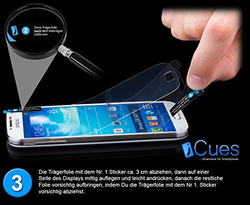 Samsung Galaxy S4 | iCues plegables Weiss bolsillo | [Protector de pantalla, incluyendo] cuero - libro con bisagras de la manga bolsillo del teléfono celular bolsa protectora para abrir la caja tirón  Menta Verde