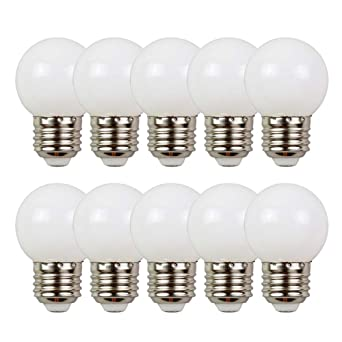 10X E27 2W Bombilla LED luces de hadas iluminación decorativa para balcón, ventana, fiesta