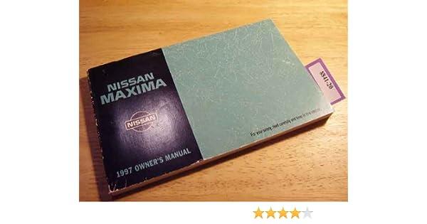 1997 nissan maxima owners manual nissan amazon com books rh amazon com 1997 Nissan Maxima Transmission Problems 1997 Nissan Maxima Problems
