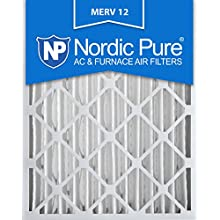 Nordic Pure 16x24x4M12-2 MERV 12 Pleated Air Condition Furnace Filter, Box of 2