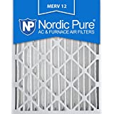 Nordic Pure 16x25x4 AC Furnace Air Filter MERV 12, Box of 1