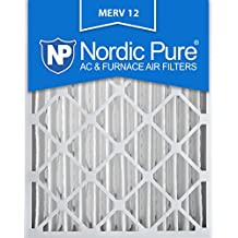 Nordic Pure 16x20x4M12-2 MERV 12 Pleated Air Condition Furnace Filter, Box of 2
