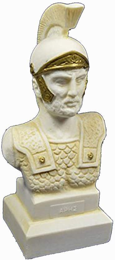 Amazon Com Estia Creations Ares Sculpture Bust Ancient Greek God Of War Aged Statue Home Kitchen