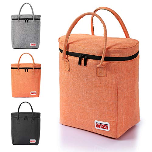 Insulated Cooler Bag Lunch Tote for Men& Women Work, Travel, Picnics, Sports, Car Cooler, Waterproof Material& Zip Leakproof& Eco Friendly Liner 12.5''H/11.0''L/7.3''W by TRA