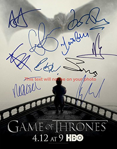 Game of thrones Autographed 11x14 Poster Photo from Celebrity Graphs