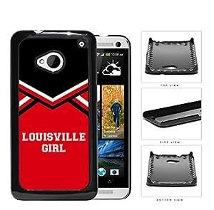 Louisville City Girl School Spirit Cheerleading Uniform HTC one M7 Hard Snap on Plastic Cell Phone Cover