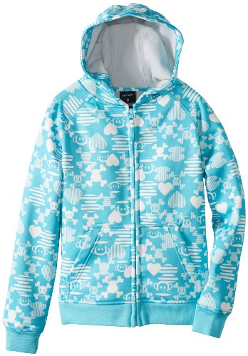 Paul Frank Girl's Julius Mix-Up Bond Tech Fleece, Aqua, Large 2010 Snowboard Jacket