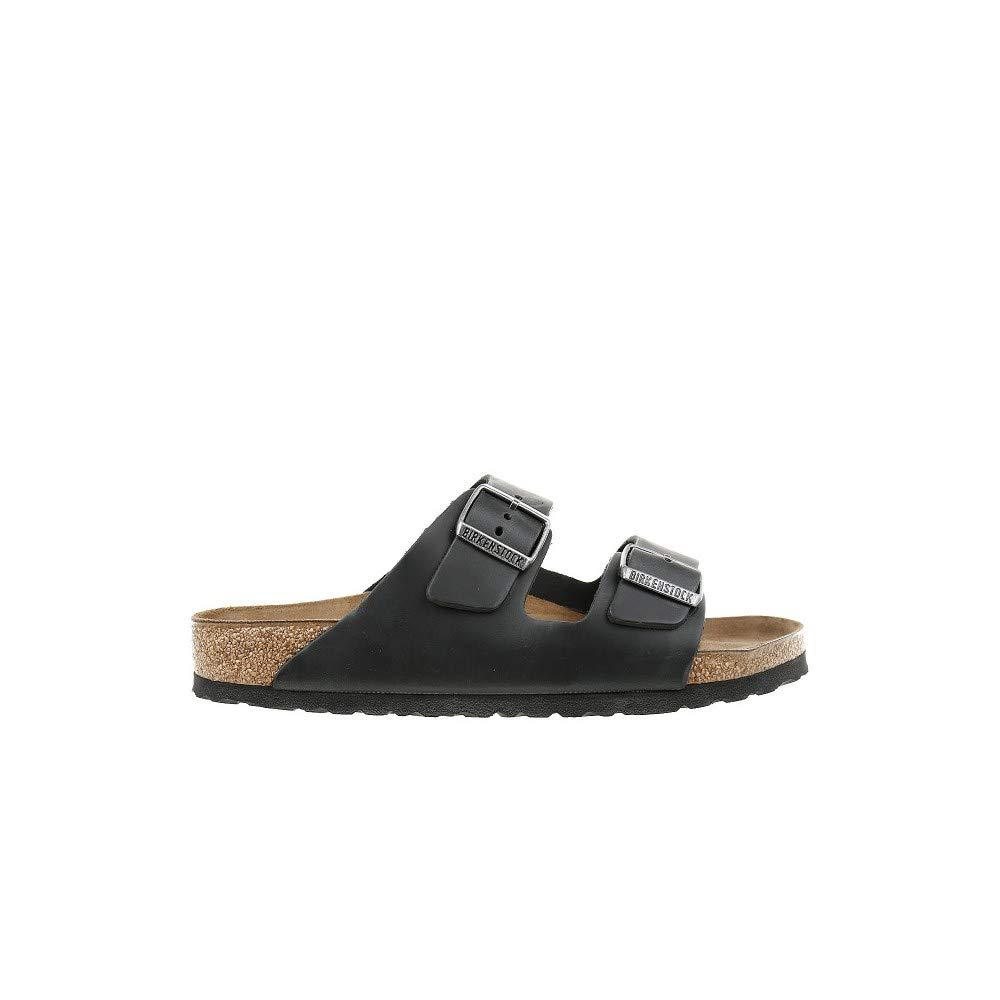 Birkenstock Arizona Unisex Black Birko-Flor Sandal 44 / Unisex US Size 13-13.5 by Birkenstock