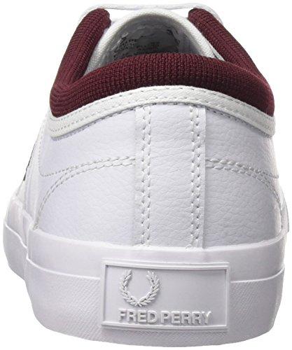Fred Perry Kendrick Getipte Manchet Lederen Sneaker Wit