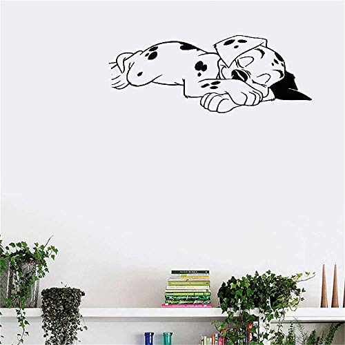Tuiope Wall Decal Wall Sticker Art Mural Home Decor Quote Lovely Sweet Dream Dalmatian Dogs for Nursery Kids Room