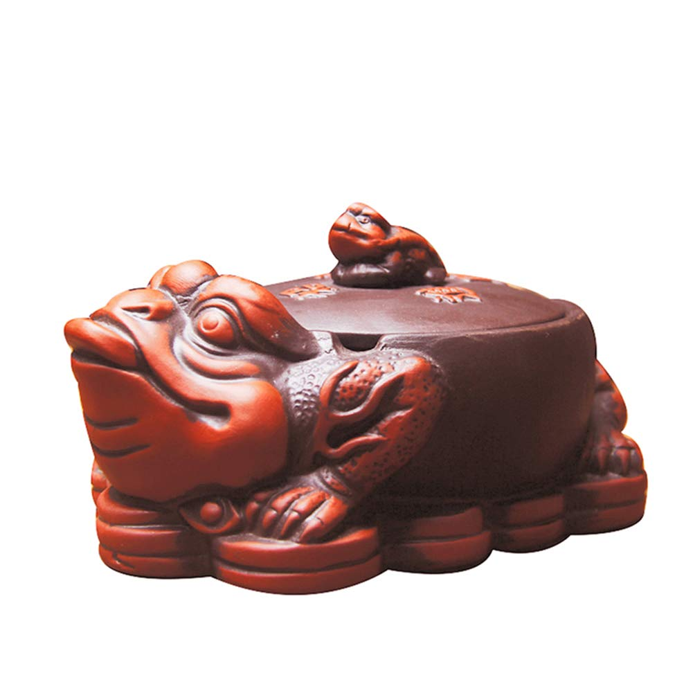 Fitlyiee Animal Shaped Purple Sand Ashtray Desktop Smoking Ash Tray for Home Office Decoration (Red)