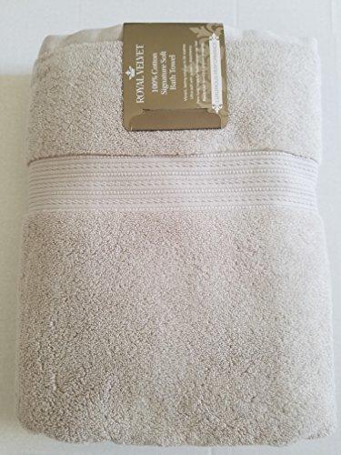 "Royal Velvet Bath Towel - Luxury Royal Velvet Signature Soft Solid Bath Towel - 30x54""- Stone Cement"