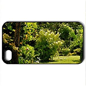 Come to my Garden - Case Cover for iPhone 4 and 4s (Amusement Parks Series, Watercolor style, Black)