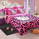 Olwen Shop Bedding Sets - Hello Kitty Bedding Set Children Cotton Bed Sheets Hello Kitty Duvet Cover Bed Sheet Pillowcase Twin Full Queen Free 1 PCs
