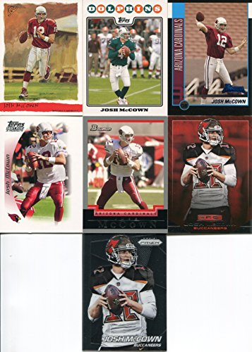 Josh McCown 7 Card Lot with Bowman Rookie