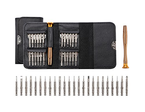 Ahyapiner Precision Small Screwdriver for Professional Electronic Repair 25 in 1 Tool Kit for iPhone Series,iPad,MacBook,HTC,LG,Samsung,Car Keys Glasses Watch Laptop Digital Camera