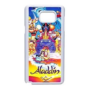 Disneys Aladdin and Jasmine Funda Samsung Galaxy Note 5 Funda Caja del teléfono celular blanco S0E2DB