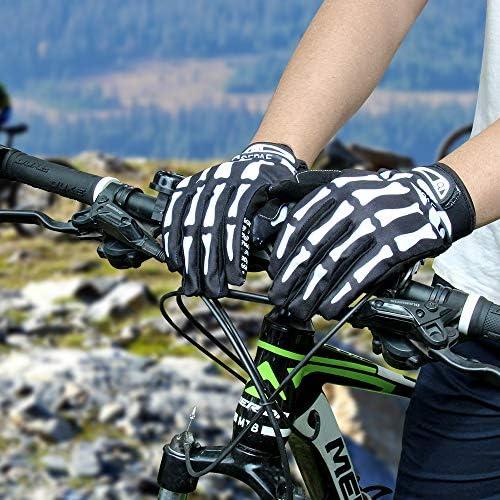 LERWAY VTT Vélo Plein Doigt Gants de Vélo Chaud Moto Sports de Plein Air Vélo Monster Gants Squelette (Taille M)
