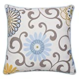 Trend Lab Waverly Baby Pom Pom Spa Decorative Pillow, Blue/Cream/Green/Gray