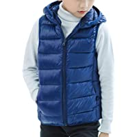 Chaleco con Capucha Niños Niñas Inviernos Sin Mangas Chaqueta Abrigo Calienta Outwear