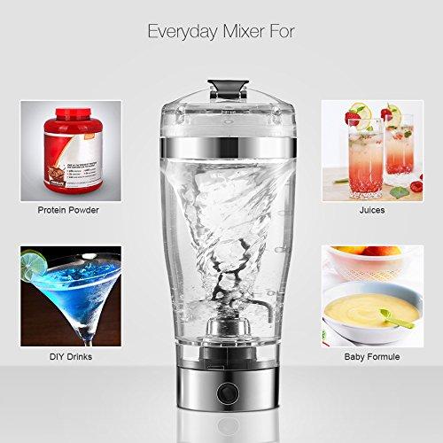Proteínas Shaker Botella, Digoo DG-VX1 Batidora Proteínas/Creativo Automático & Eléctrico Vortex Mixer para Jugo, Cóctel, Café, Té, Proteína (450 ML): ...