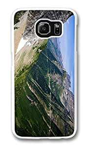 Galaxy S6 Case, S6 Case,Valley Between Mountains Shock Absorption Bumper Case Protective Slim Fit Hard PC Cover for Samsung Galaxy S6 White