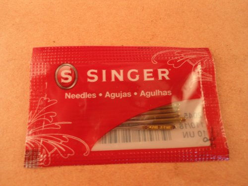 10 Singer Needles 2045 Size 110/18 Yellow Flat Shank