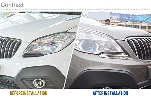 ABS cromato anteriore Head Light Lamp Bottom sopracciglio cover Trim pezzi per Mokka 2013 2014 2015