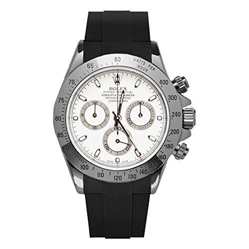 newest 28215 4f996 [ラバービー] RubberB ラバーベルト ROLEX デイトナ(オイスターブレス)専用ラバーベルト (ブラック) ※時計は付属しません(Watch  is not included)[並行輸入品]