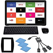 EEEKit 5 in 1 Office Solution Kit for Samsung Galaxy View 18.4 inch Tablet, 2.4G Wireless Keyboard Mouse Combo, Micro USB Host OTG Hub Adapter, Mouse Pad