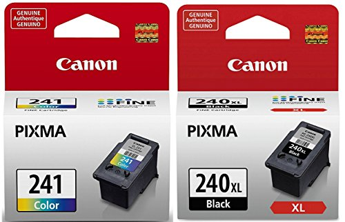 Genuine Canon PG-240XL High Capacity Black Ink Cartridge (5206B001) + CL-241 Color Ink Cartridge (5209B001)
