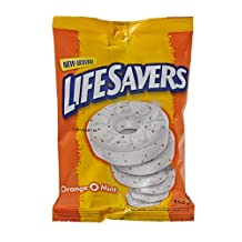 Life Savers Orange-O-Mint, Peg Bag, 150gm, 12 Count