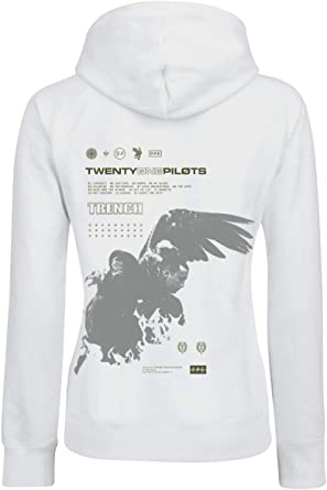 Twenty One Pilots Wings damski sweter z kapturem, biały, Band-Merch, Bands: Odzież