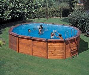 gre m260771 piscina de madera ovalada hawaii kitnpov611
