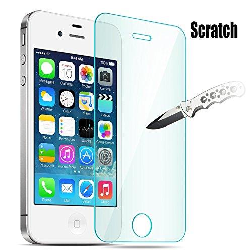 iPhone 4S Screen Protector, JETech Premium Tempered Glass Screen Protector for iPhone 4 and iPhone 4S - 0305