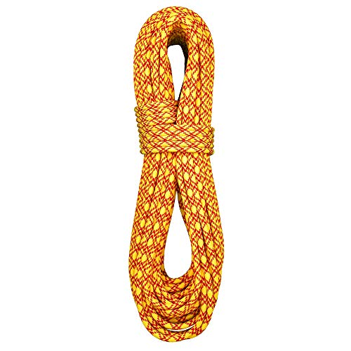 BlueWater Ropes 7.7mm Ice Floss Double Dry Dynamic Twin Rope (Yellow, 60M)