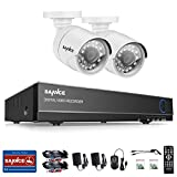 SANNCE Video Security Camera System 4CH 1080N 5-IN-1 DVR Recorder (TVI/CVI/AHD/Analog/ONVIF) and 2x720P 1500TVL Night Vision Surveillance Cameras Weatherproof IP66 P2P for Home Office Outdoor Monitori