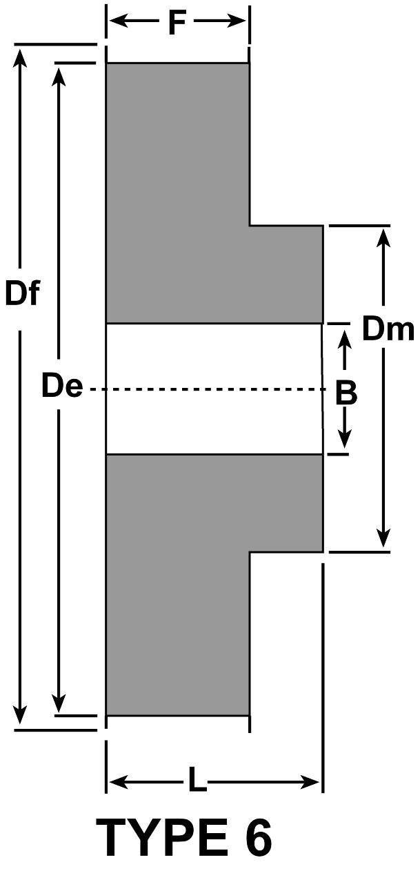 Aluminum D/&D Power Drive Belts 19 D/&D DD47AT10-19 2-6F-A AT10 Metric Pitch Synchronous Belt Pulleys