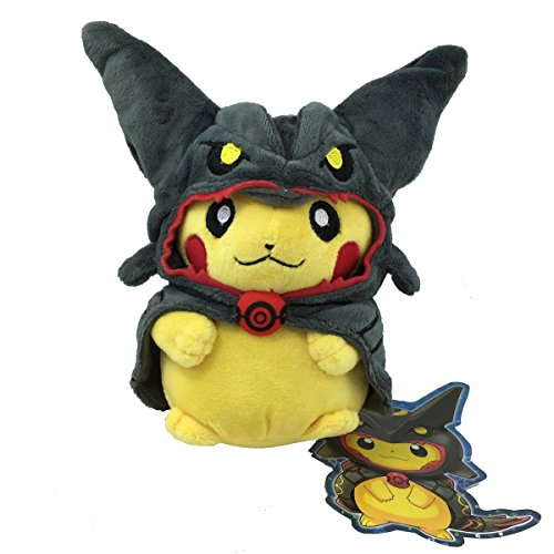 Shiny Black Rayquaza Poncho Pikachu Pokemon 2016 Skytree Town Grand Opening Campaign Plush Toy Stuffed Animal Soft Figure Doll 8