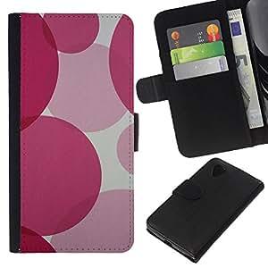 EJOY---La carpeta del tirón la caja de cuero de alta calidad de la PU Caso protector / LG Nexus 5 D820 D821 / --Ronda rosado fucsia púrpura Bastante