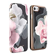 Official TED BAKER® AW16 iPhone 6 / 6S Case - Luxury Folio Case / Cover in Flower Design for Women with Built-In Interior Mirror for the Apple iPhone 6 and iPhone 6S - KNOWANE - Porcelain Rose