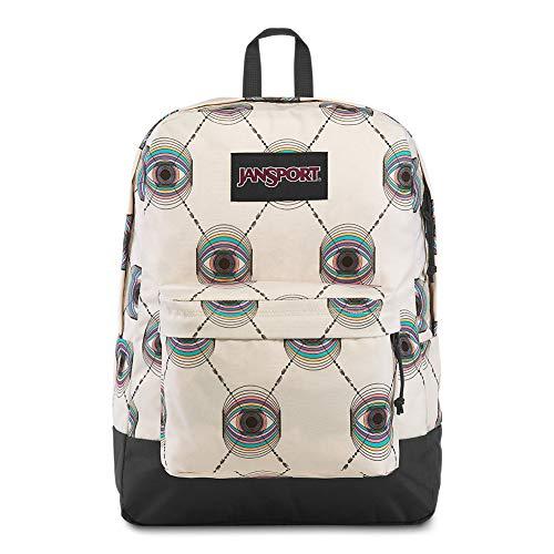 JanSport Black Label Superbreak Backpack - Lightweight School Bag | Psychic Eye Print