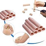 Open Toe Tubes Gel Lining Fabric Finger Sleeves