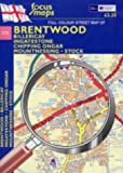 Full Colour Street Map of Brentwood: Billericay - Ingatestone - Chipping Ongar - Mountnessing - Stock